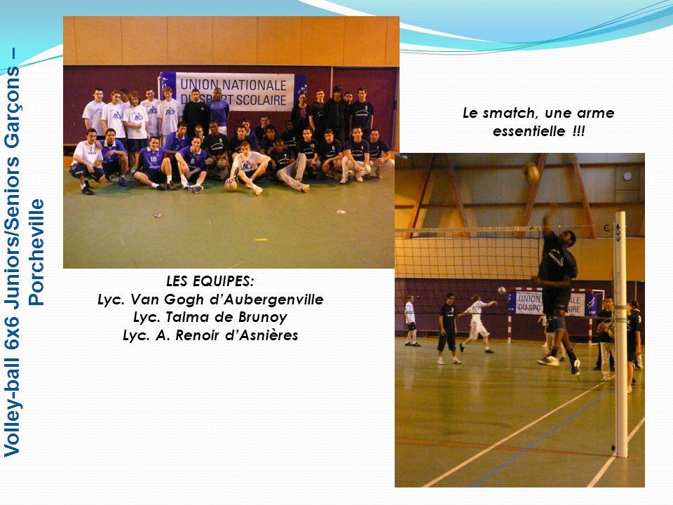 Volley-ball 6x6 Juniors/Seniors Garçons – Porcheville