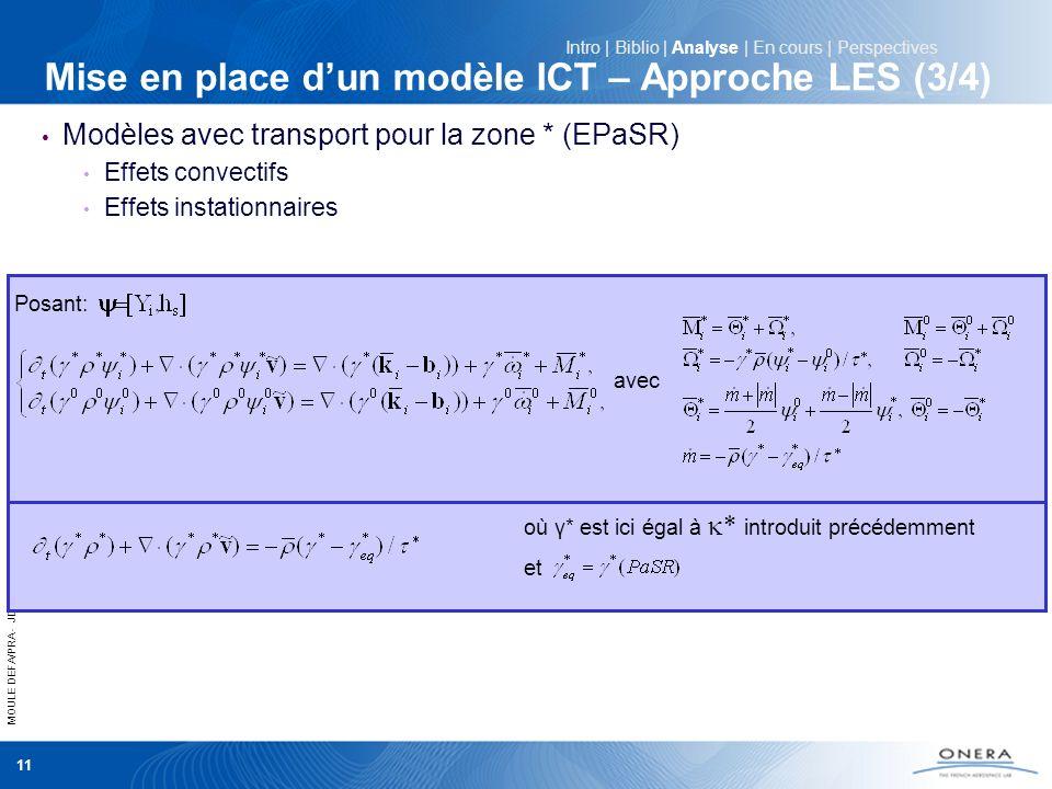 Mise en place d'un modèle ICT – Approche LES (3/4)