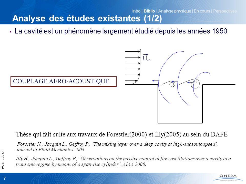 Analyse des études existantes (1/2)