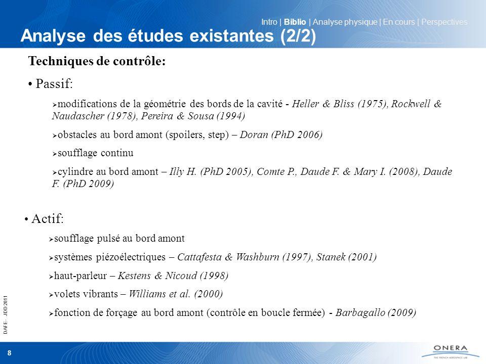 Analyse des études existantes (2/2)