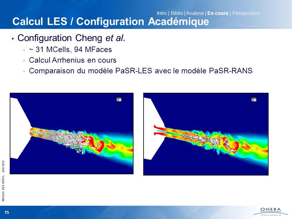 Calcul LES / Configuration Académique