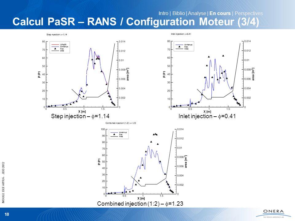 Calcul PaSR – RANS / Configuration Moteur (3/4)
