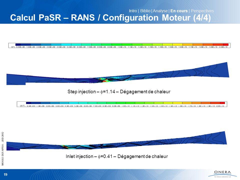 Calcul PaSR – RANS / Configuration Moteur (4/4)
