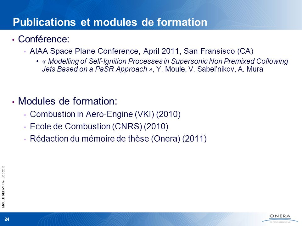 Publications et modules de formation