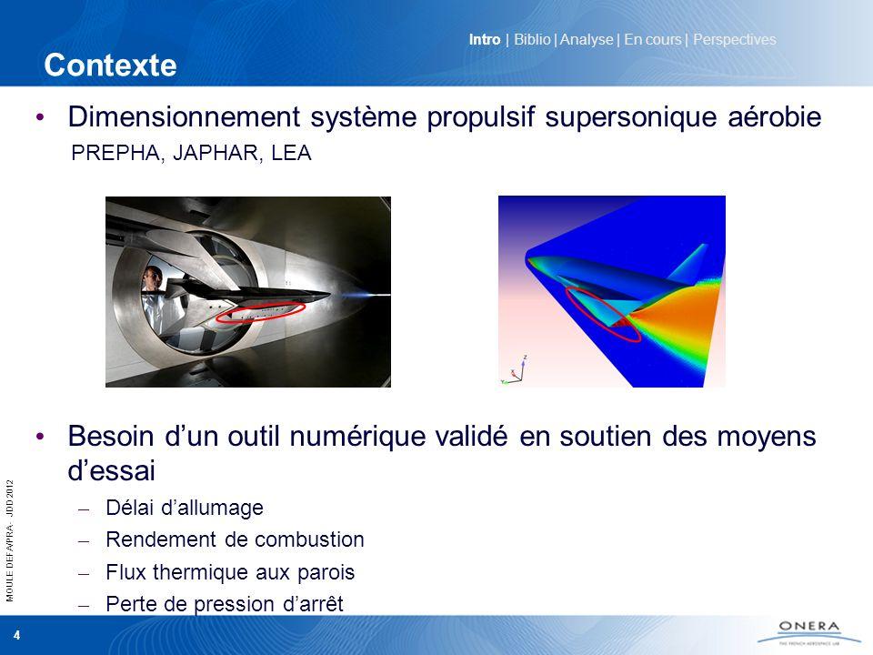 Contexte Dimensionnement système propulsif supersonique aérobie