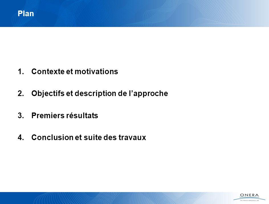 Plan Contexte et motivations. Objectifs et description de l'approche.
