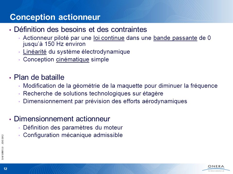 Conception actionneur