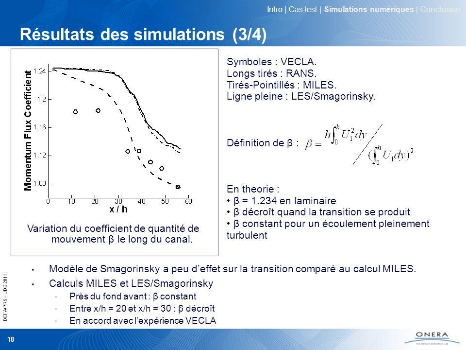 Résultats des simulations (3/4)