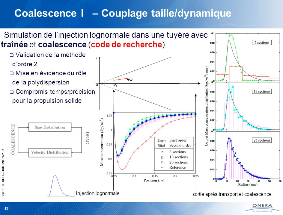 Coalescence I – Couplage taille/dynamique
