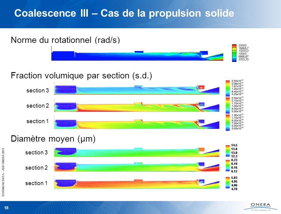 Coalescence III – Cas de la propulsion solide