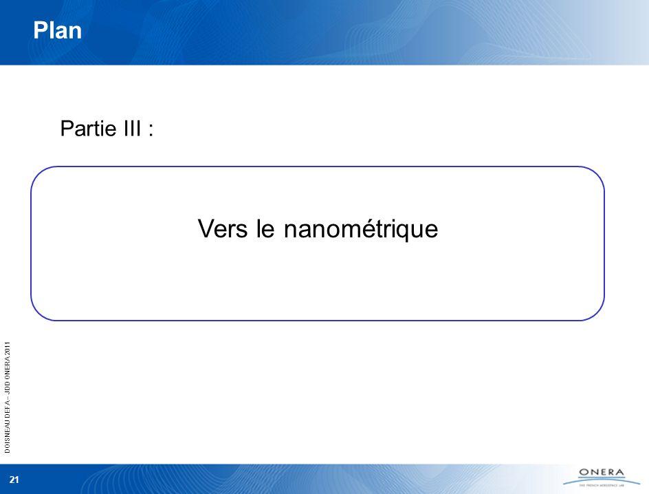 Plan Partie III : Vers le nanométrique 21 21