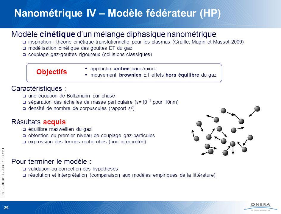 Nanométrique IV – Modèle fédérateur (HP)