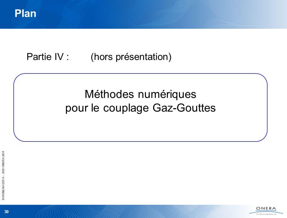 Méthodes numériques pour le couplage Gaz-Gouttes