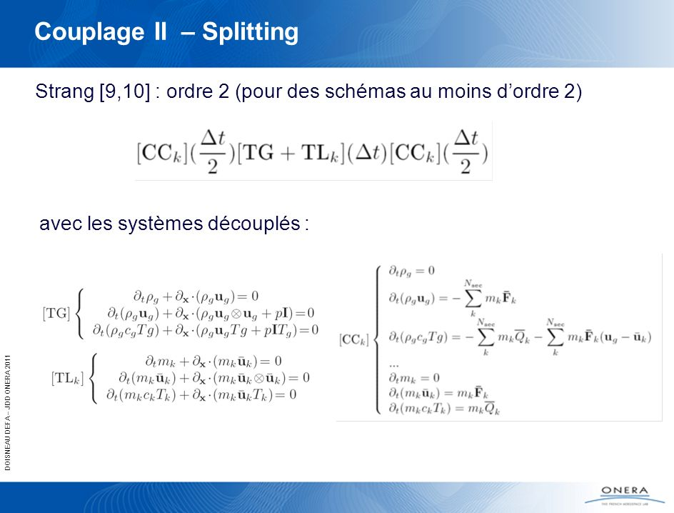 Couplage II – Splitting