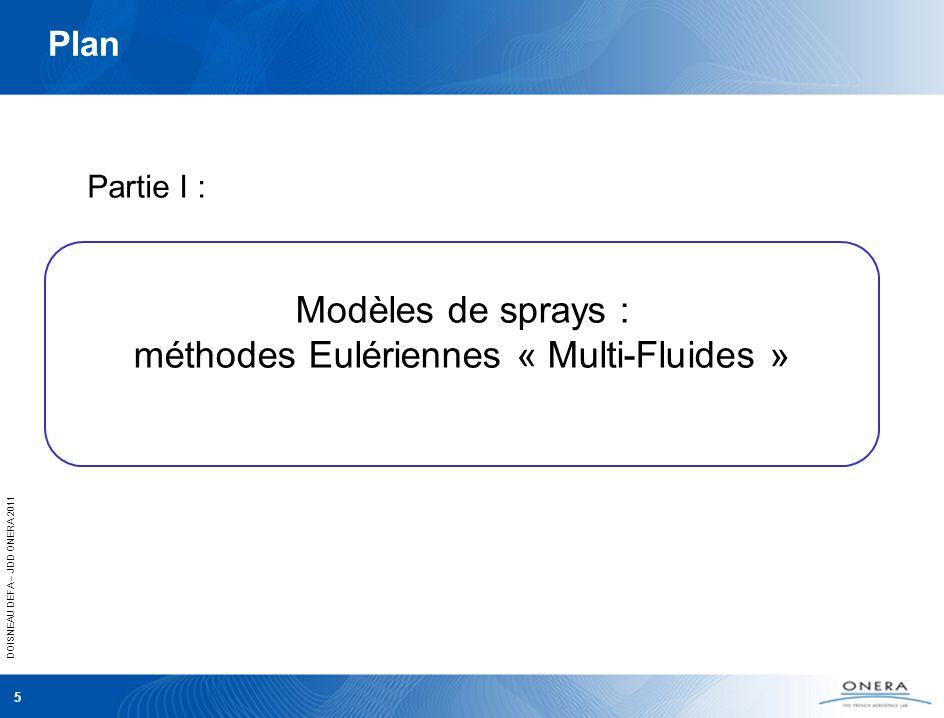 Modèles de sprays : méthodes Eulériennes « Multi-Fluides »