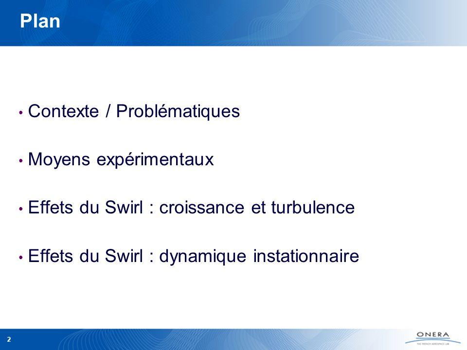 Plan Contexte / Problématiques Moyens expérimentaux