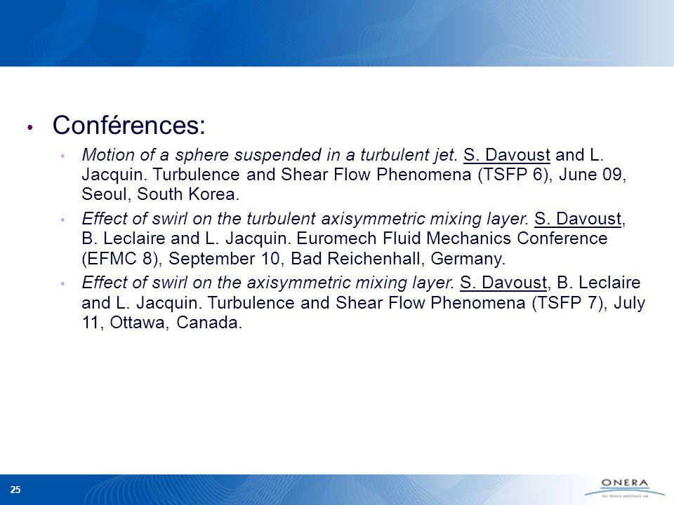 Conférences: