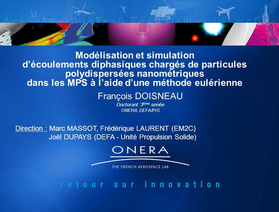 Modélisation et simulation d'écoulements diphasiques chargés de particules polydispersées nanométriques dans les MPS à l'aide d'une méthode eulérienne