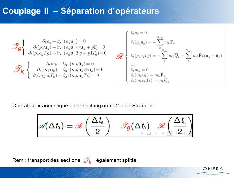 Couplage II – Séparation d'opérateurs