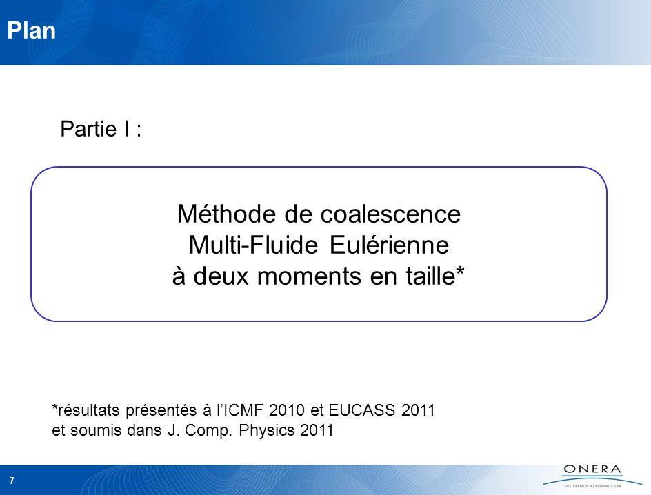 Plan Partie I : Méthode de coalescence Multi-Fluide Eulérienne à deux moments en taille*