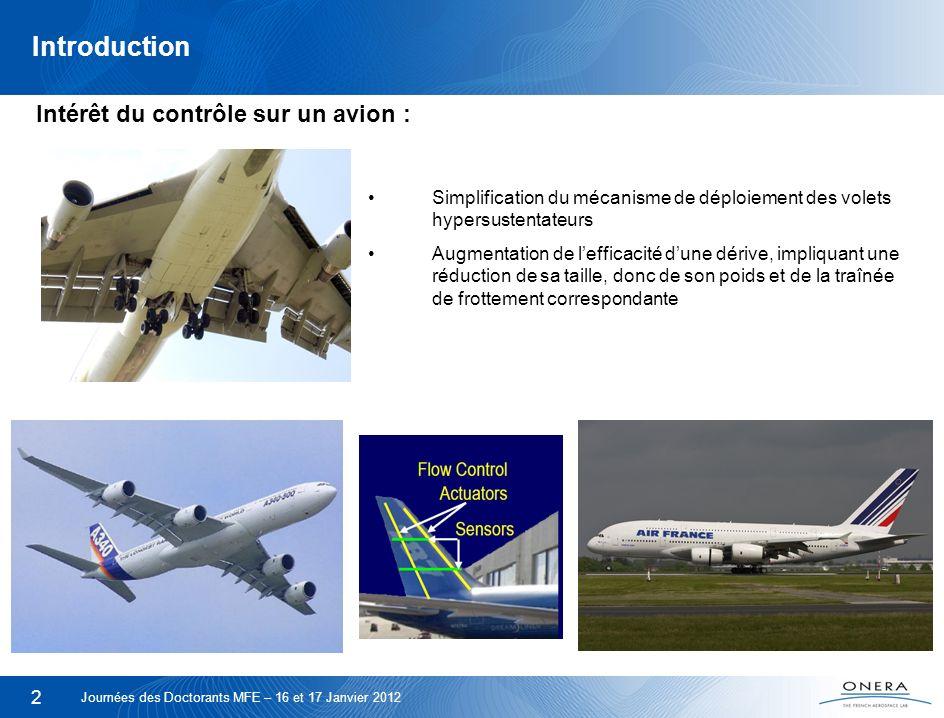 Introduction Intérêt du contrôle sur un avion :