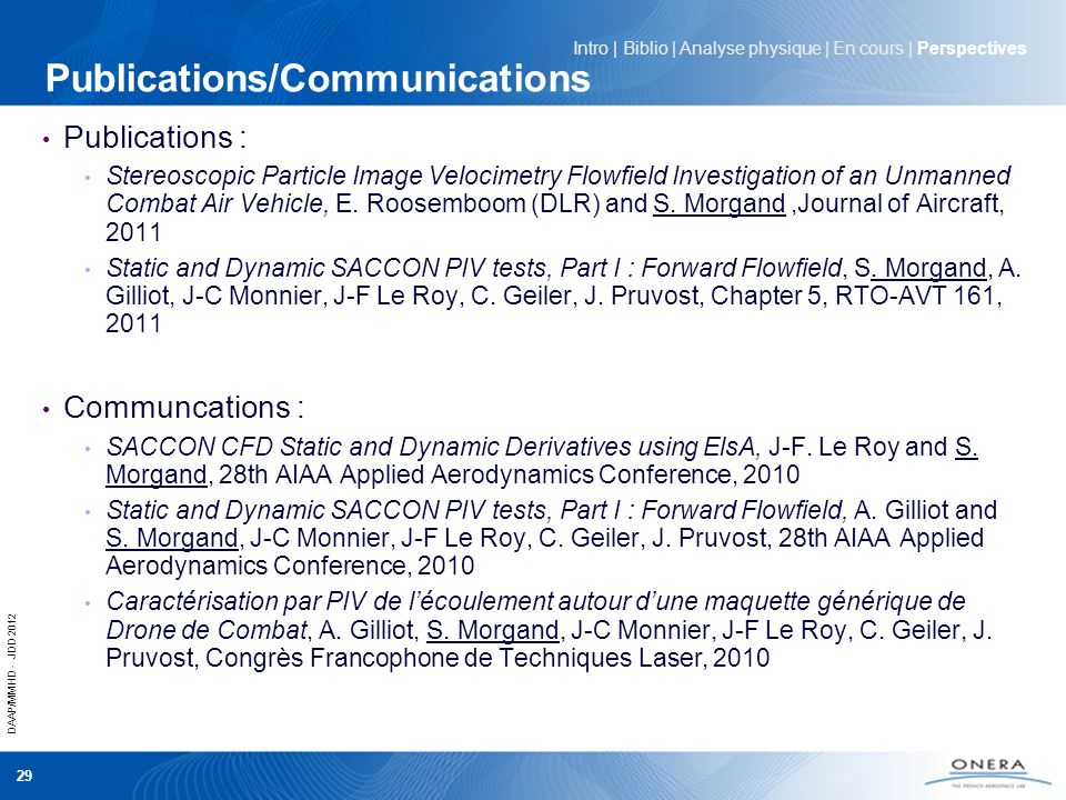 Publications/Communications