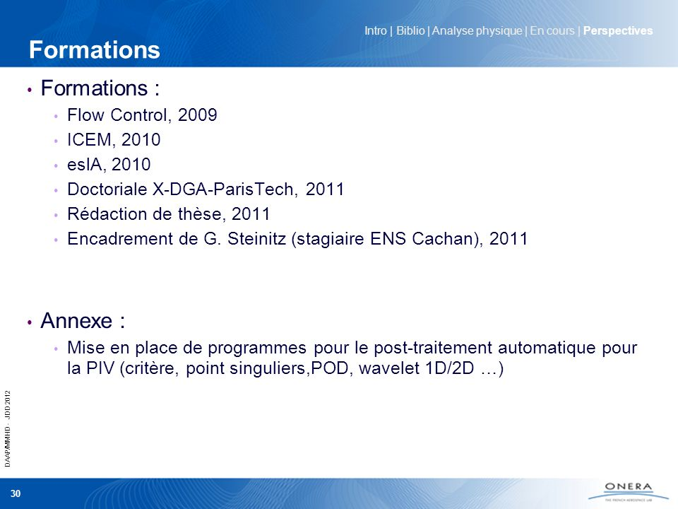 Formations Formations : Annexe : Flow Control, 2009 ICEM, 2010