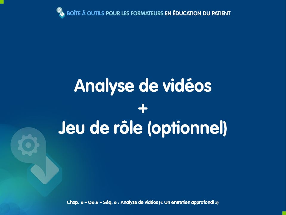 Jeu de rôle (optionnel)