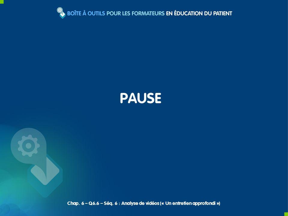 PAUSE Chap. 6 – Q6.6 – Séq. 6 : Analyse de vidéos (« Un entretien approfondi »)