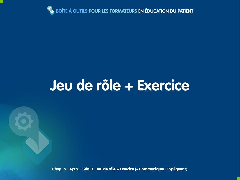 Jeu de rôle + Exercice Chap. 5 – Q5.2 – Séq.