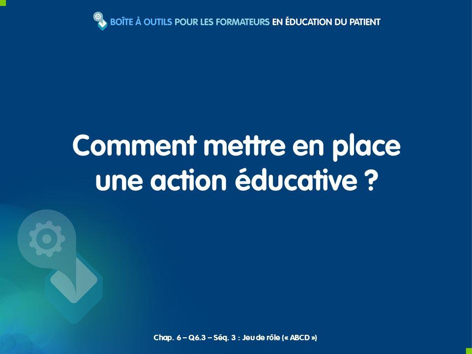 Comment mettre en place une action éducative