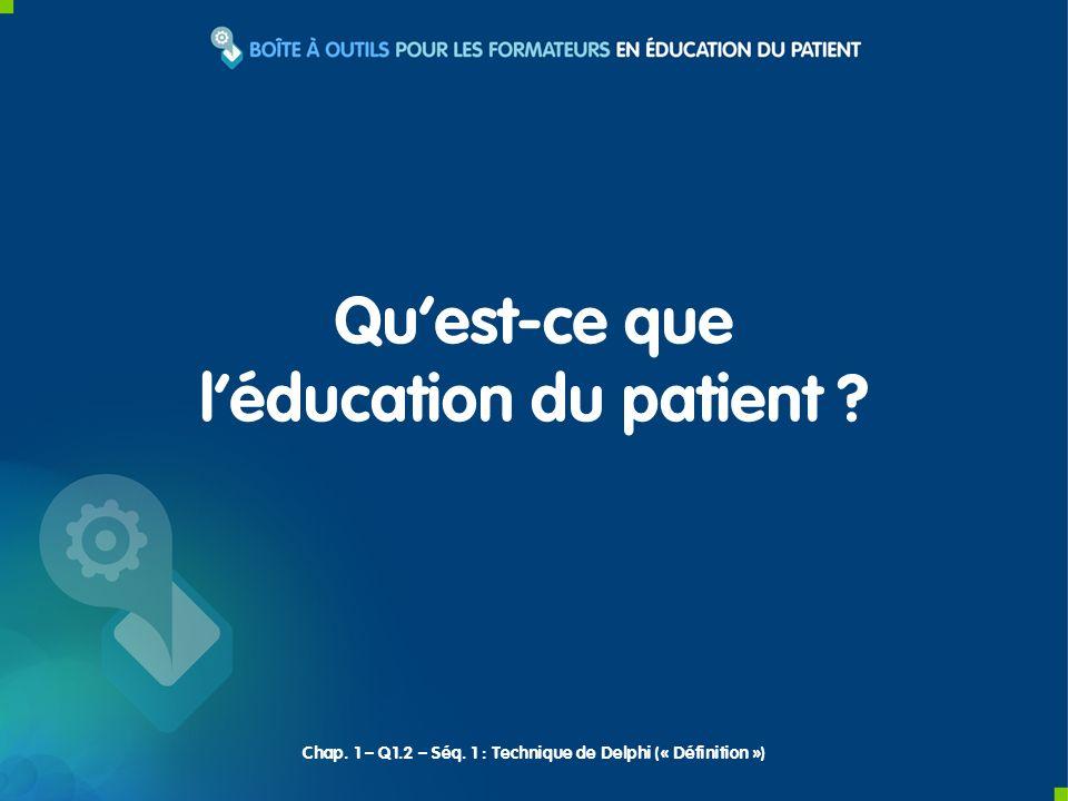 l'éducation du patient