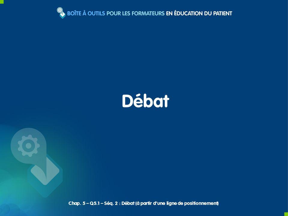 Débat Chap. 5 – Q5.1 – Séq. 2 : Débat (à partir d'une ligne de positionnement)