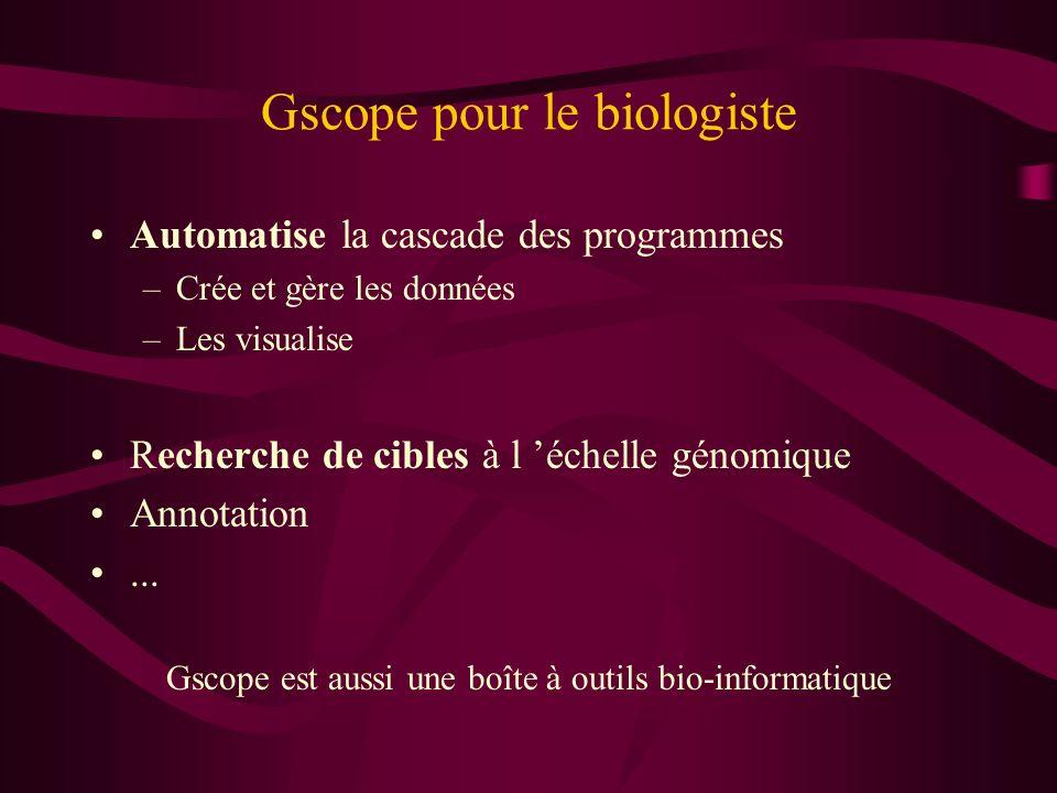 Gscope pour le biologiste