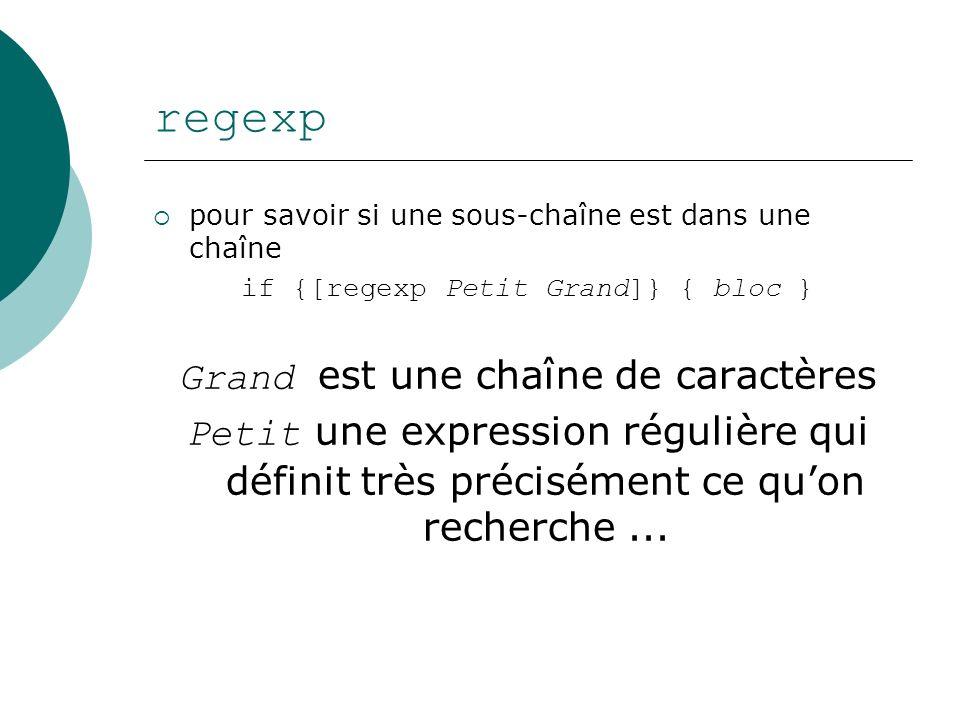 regexp Grand est une chaîne de caractères
