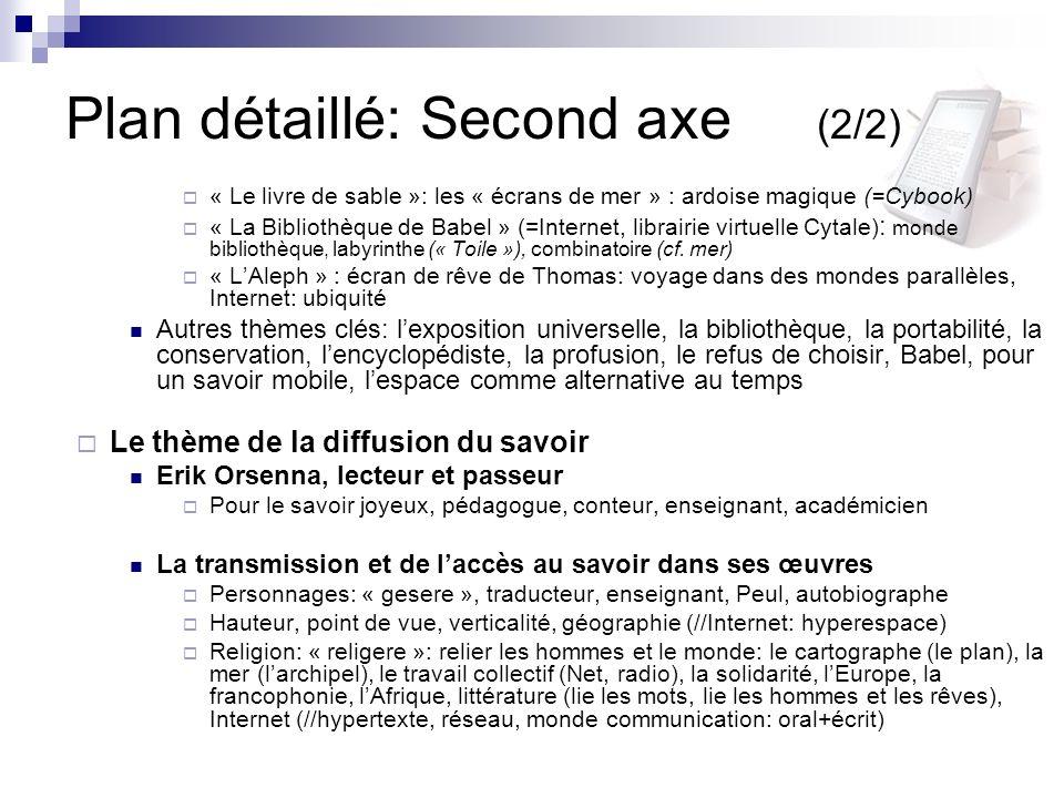Plan détaillé: Second axe (2/2)