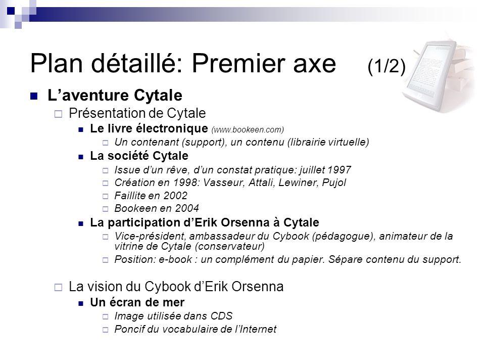 Plan détaillé: Premier axe (1/2)
