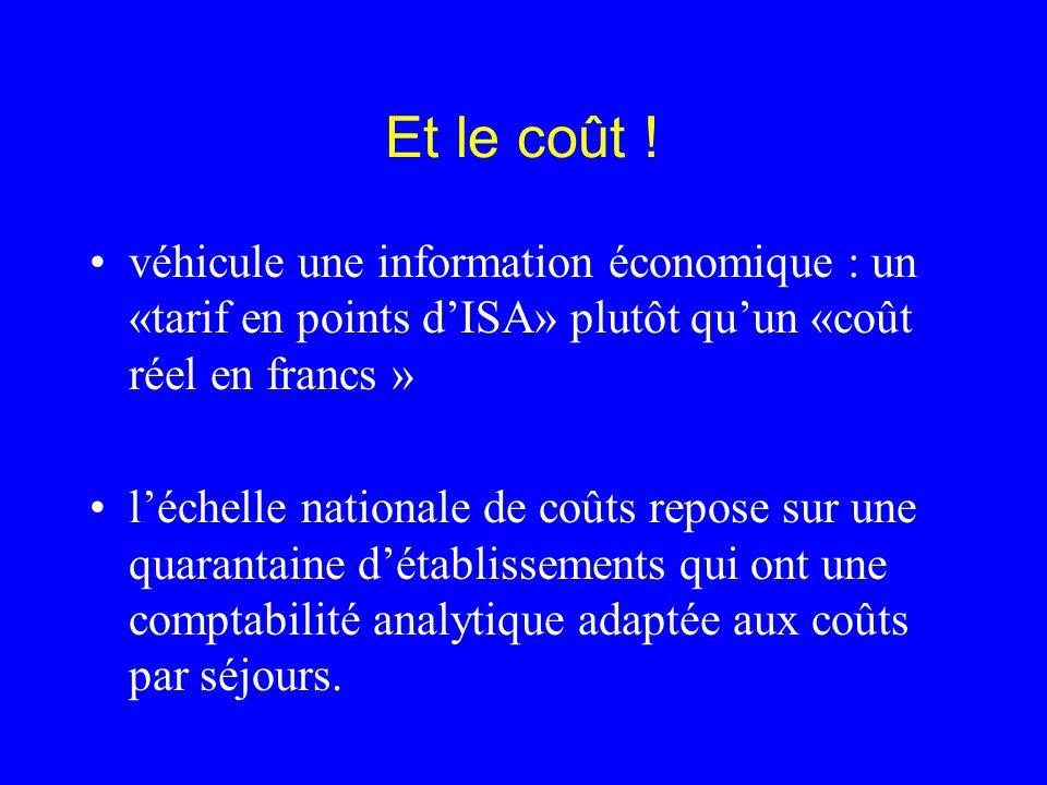 Et le coût ! véhicule une information économique : un «tarif en points d'ISA» plutôt qu'un «coût réel en francs »