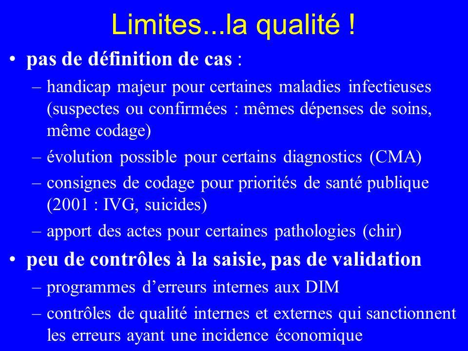 Limites...la qualité ! pas de définition de cas :