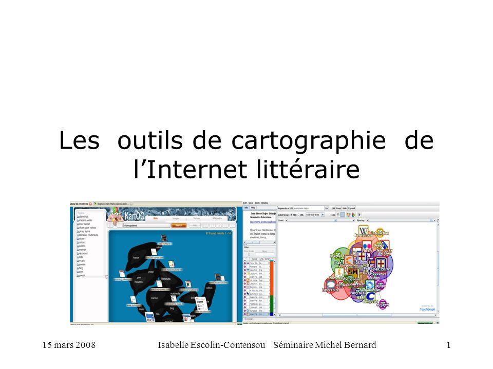Les outils de cartographie de l'Internet littéraire