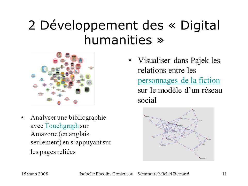 2 Développement des « Digital humanities »