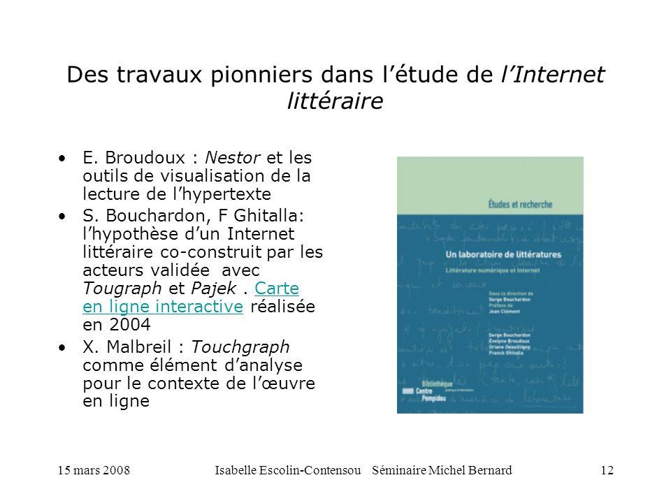 Des travaux pionniers dans l'étude de l'Internet littéraire