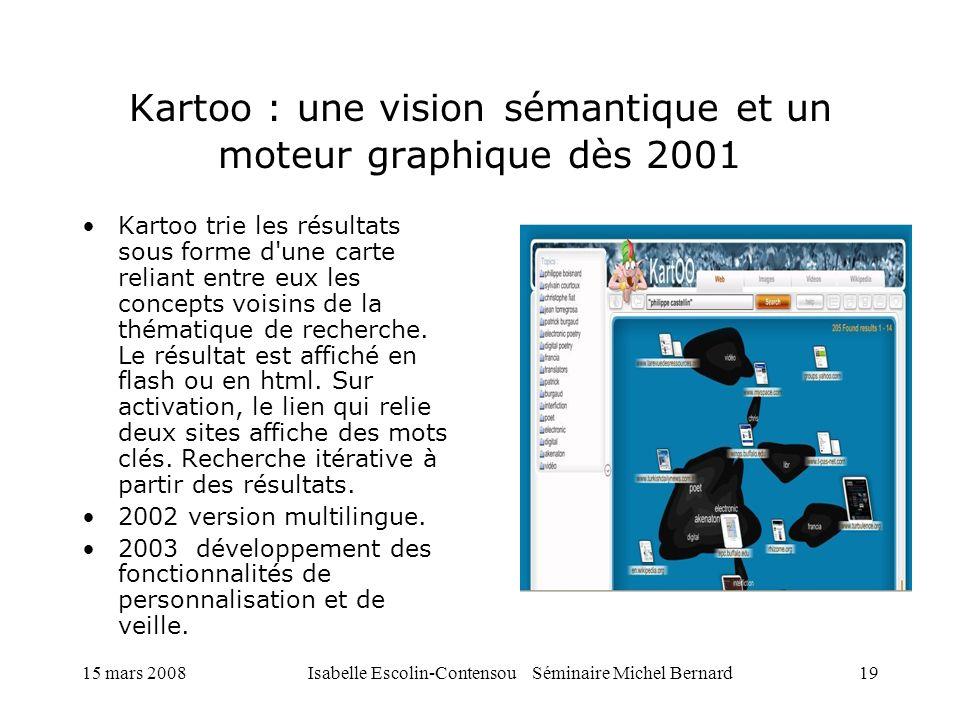 Kartoo : une vision sémantique et un moteur graphique dès 2001