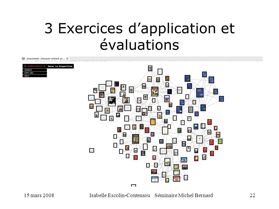 3 Exercices d'application et évaluations