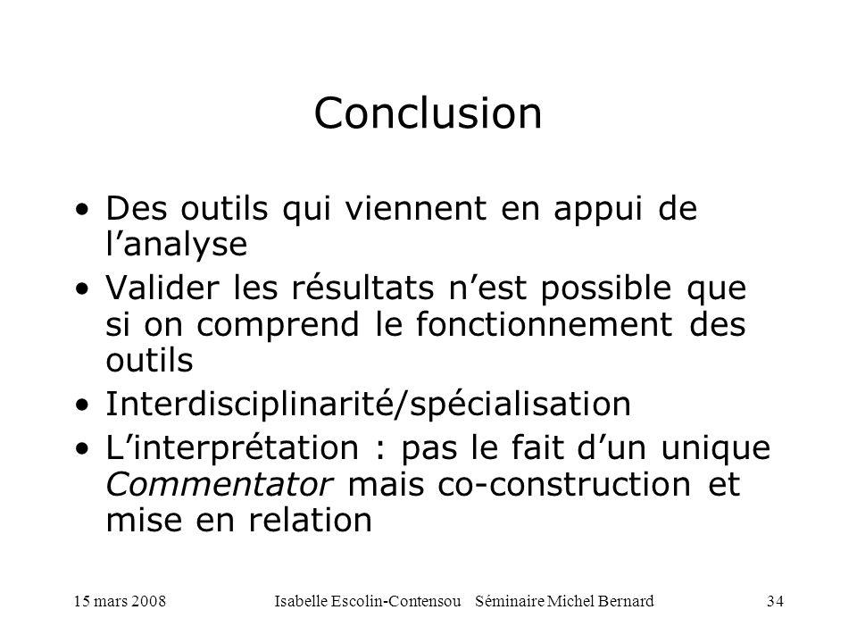 Isabelle Escolin-Contensou Séminaire Michel Bernard
