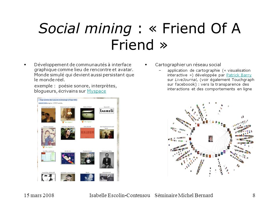 Social mining : « Friend Of A Friend »