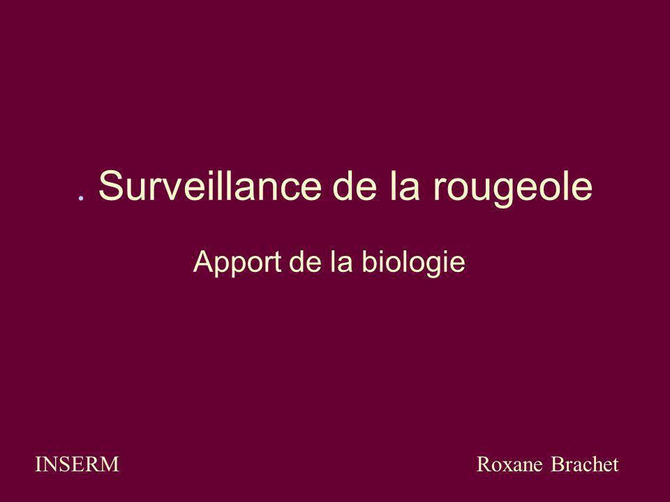 . Surveillance de la rougeole