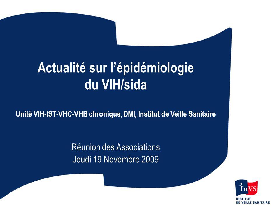 Actualité sur l'épidémiologie du VIH/sida