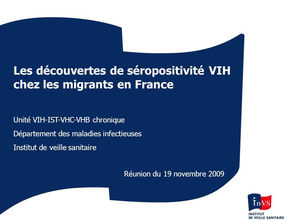 Les découvertes de séropositivité VIH chez les migrants en France