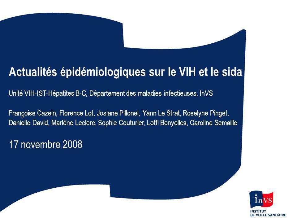 Actualités épidémiologiques sur le VIH et le sida